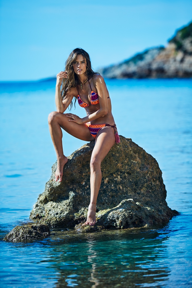 Alessandra Ambrosio stars in Ale by Alessandra spring-summer 2016 swimsuit campaign