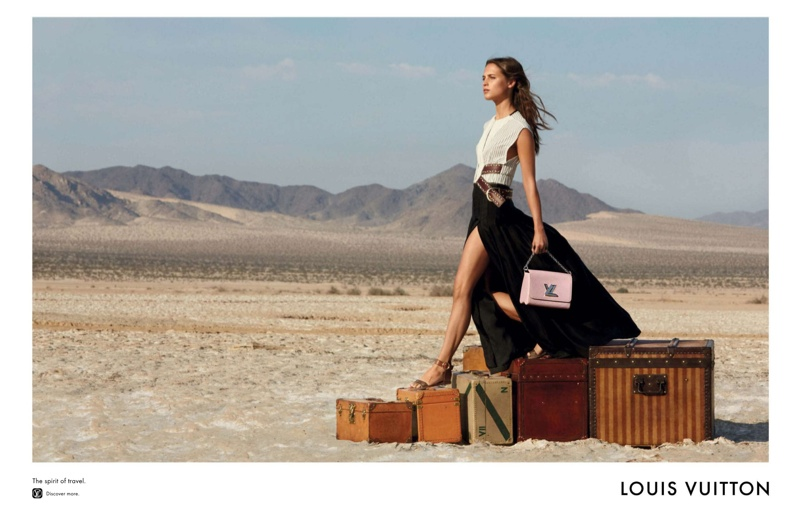 Alicia Vikander for Louis Vuitton 'Spirit of Travel' 2015 campaign