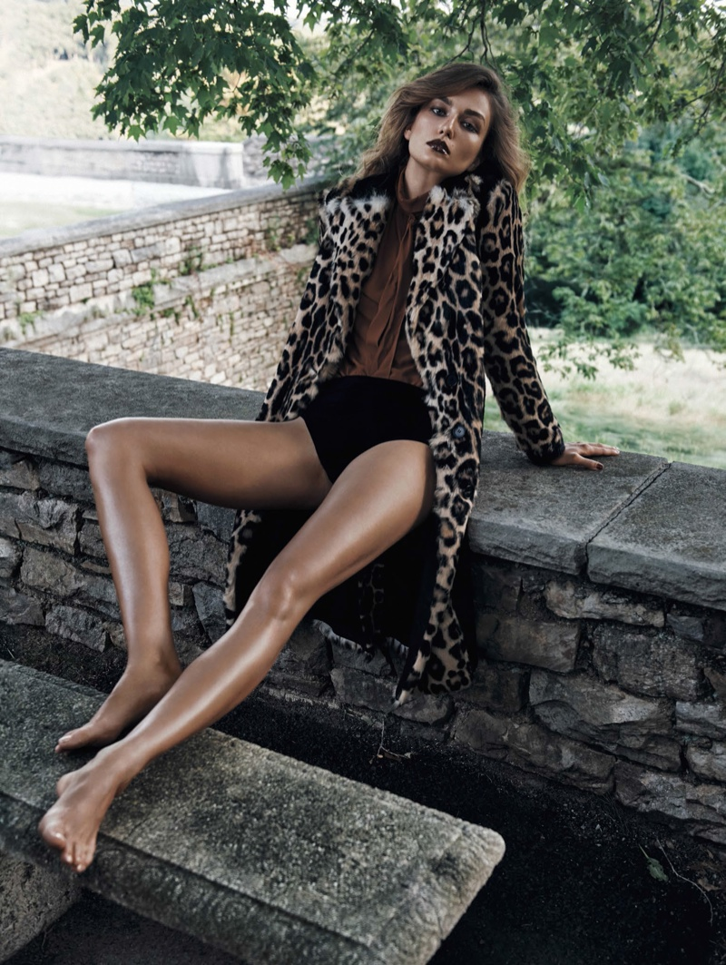 Andreea models in fall looks for the editorial