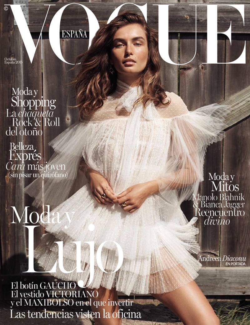 Andreea Diaconu Lives The Simple Life In Vogue Spain October 2015 Cover