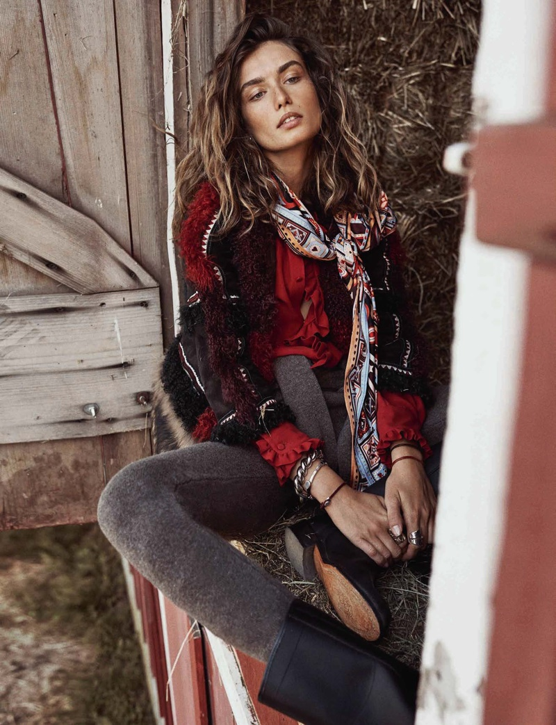 Andreea Diaconu Lives the Simple Life in Vogue Spain Cover Story