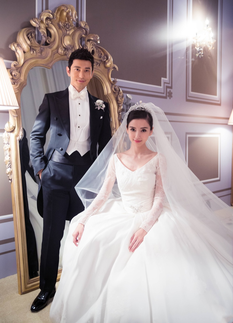 Made In China Wedding Dresses 13 Amazing Angelababy and husband Huang