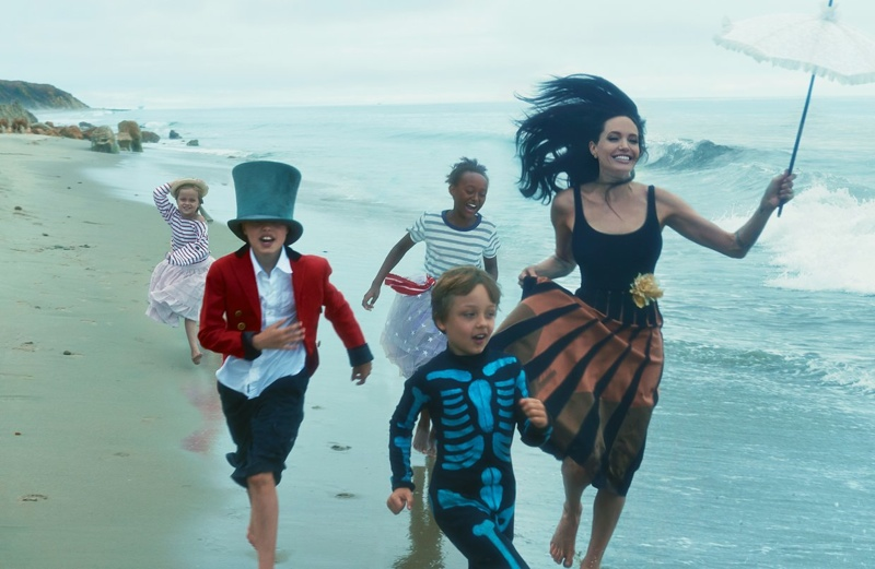 Angelina Jolie Poses with Her Children in Vogue's November Issue