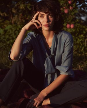 Steffy Argelich Wears LOFT Jackets & Sweaters for Fall