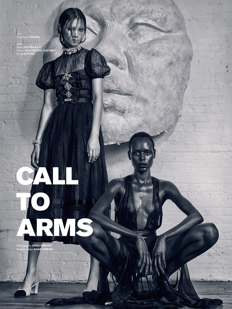 Tian Yi and Ajak Deng pose for Archetype #4