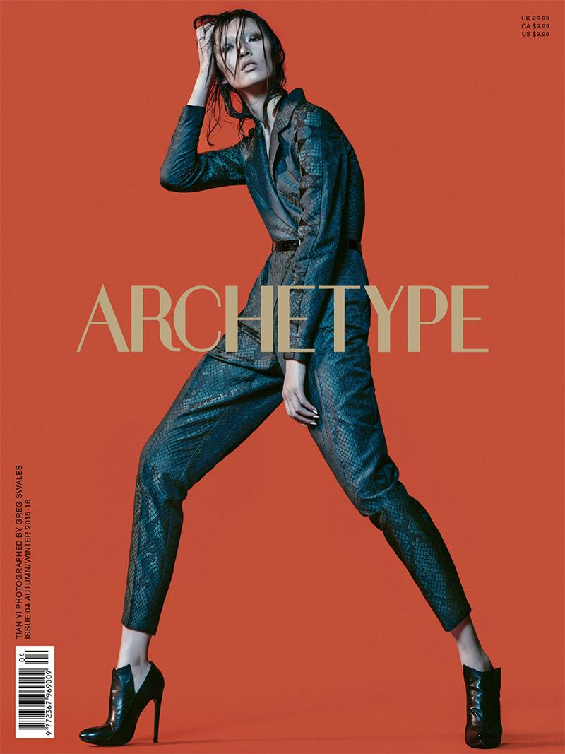 Tian Yi on Archetype #4 Fall-Winter 2015 cover