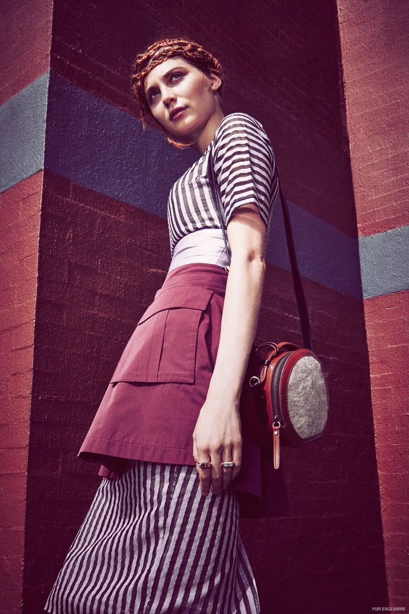 Dress Washington Roberts, Skirt SVILU, Canteen Bag Kelsey Dagger Brooklyn, Rings Luz Ortiz