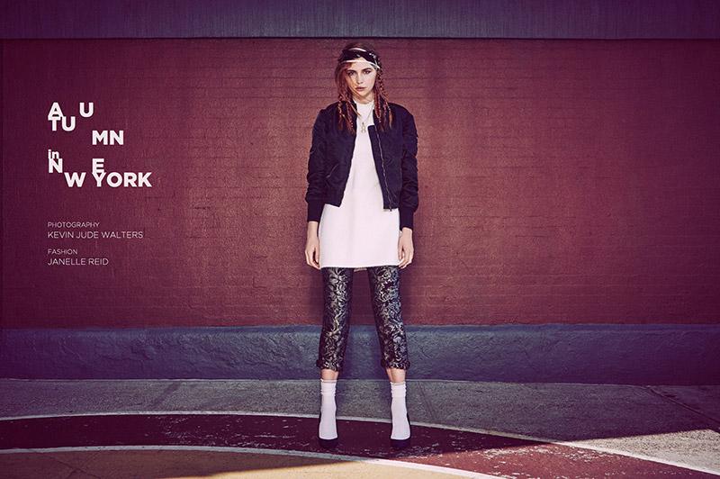 Jacket Spiewak, Dress Lina Michal, Pants True Royal, Socks Reebok, Shoes Charles by Charles David, Necklace Solomeina