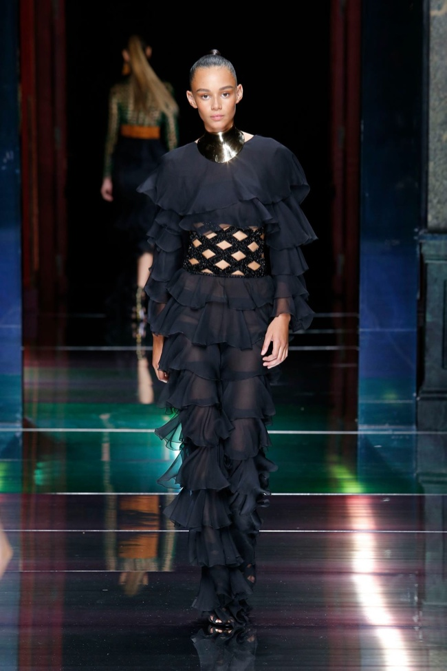 A look from Balmain's spring 2016 collection