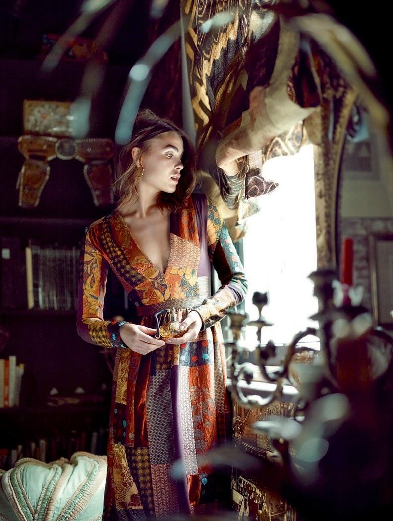 Bambi models bohemian inspired looks for ELLE UK
