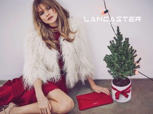 Behati Prinsloo Gets Into the Christmas Spirit for Lancaster