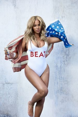 Beyonce Rocks One-Piece Swimsuits in Beat Magazine