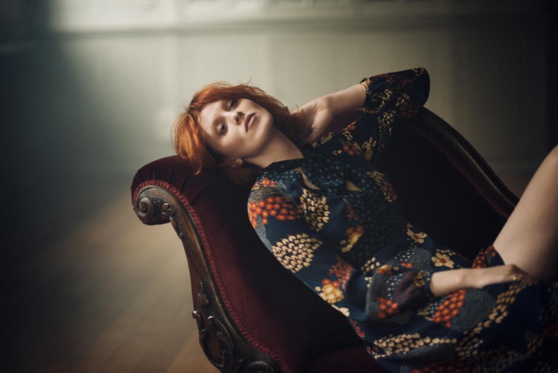 Karen Elson Models Timeless Style in Boden Icons Campaign