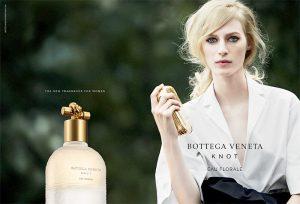 Julia Nobis Fronts Bottega Veneta 'Knot Eau Florale' Fragrance Ad