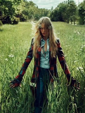 Camilla Christensen is a Nature Girl for ELLE Sweden