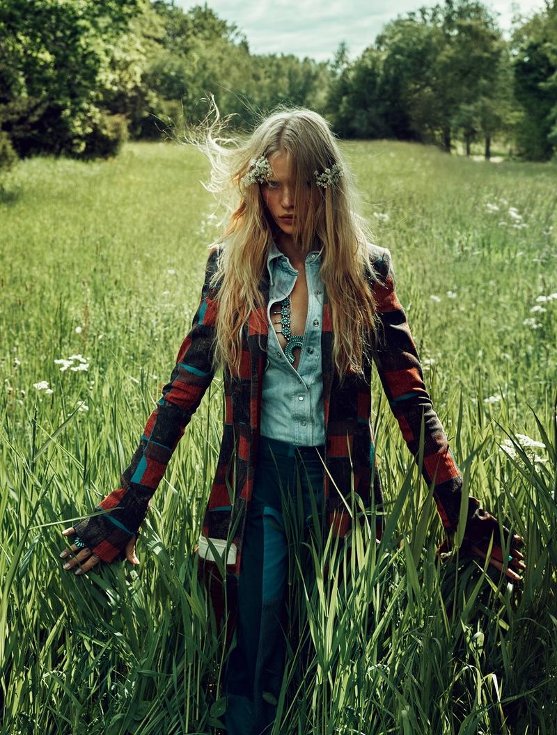 Camilla Christensen is a Nature Girl for ELLE Sweden