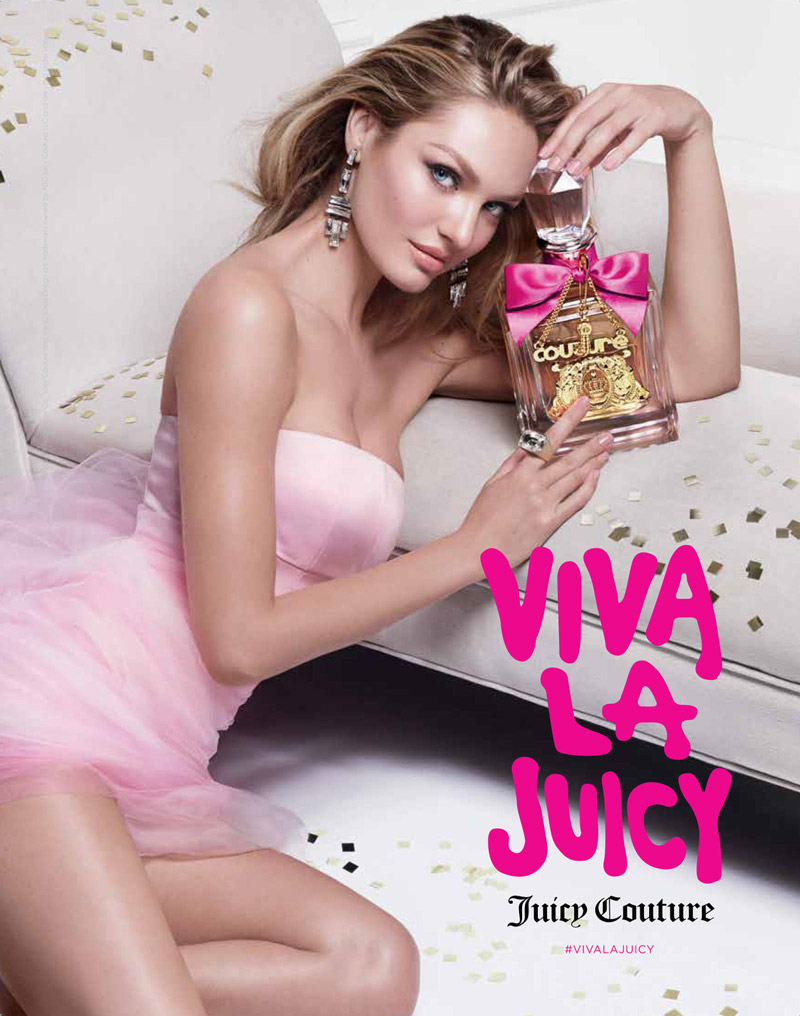 Candice Swanepoel is Pretty in Pink for Juicy Couture Fragrance Ad