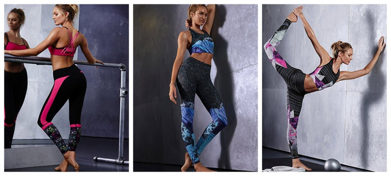 Candice Swanepoel shows off workout attire for Victoria's Secret VSX