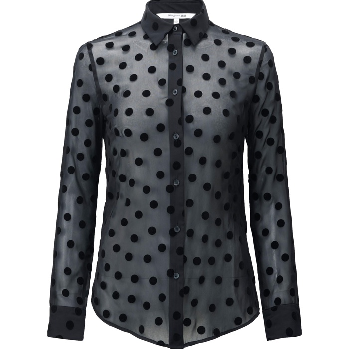 UNIQLO and Carine Roitfeld Polka Dot Print Blouse
