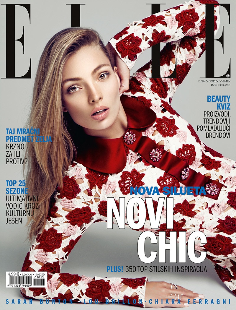 Carola Remer on ELLE Croatia October 2015 cover