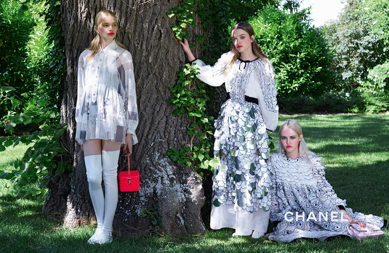 Charlotte Free, Stella Lucia and Kitty Hayes star in Chanel's cruise 2016 campaign