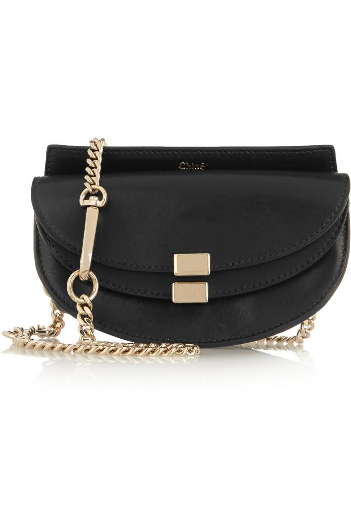 Chloe Georgia Convertible Leather Belt Bag