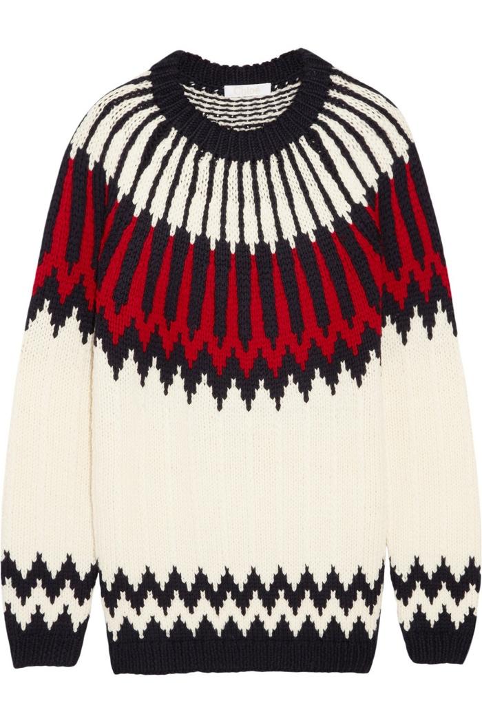 Chloe Intarsia Wool Sweater