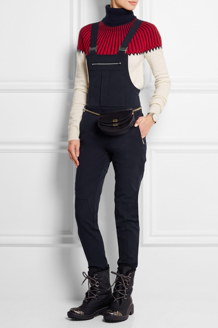 Chloe Wool Cotton Blend Twill Overalls