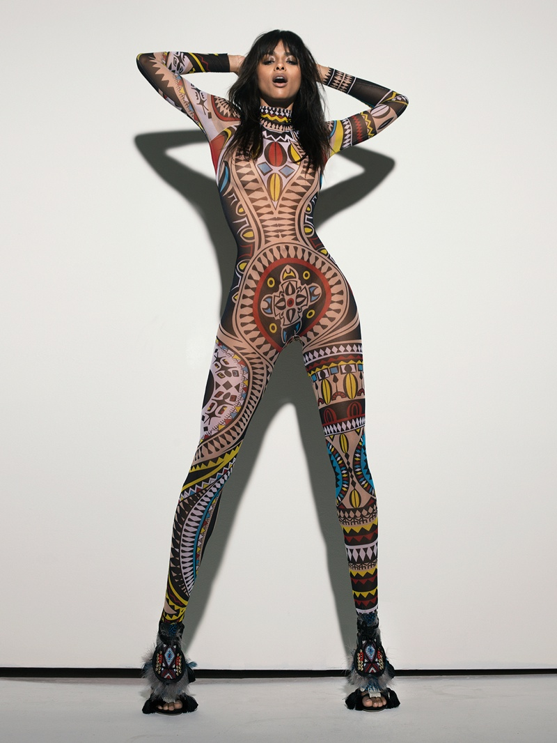 The singer poses for Markus&Koala in a DSquared2 bodysuit