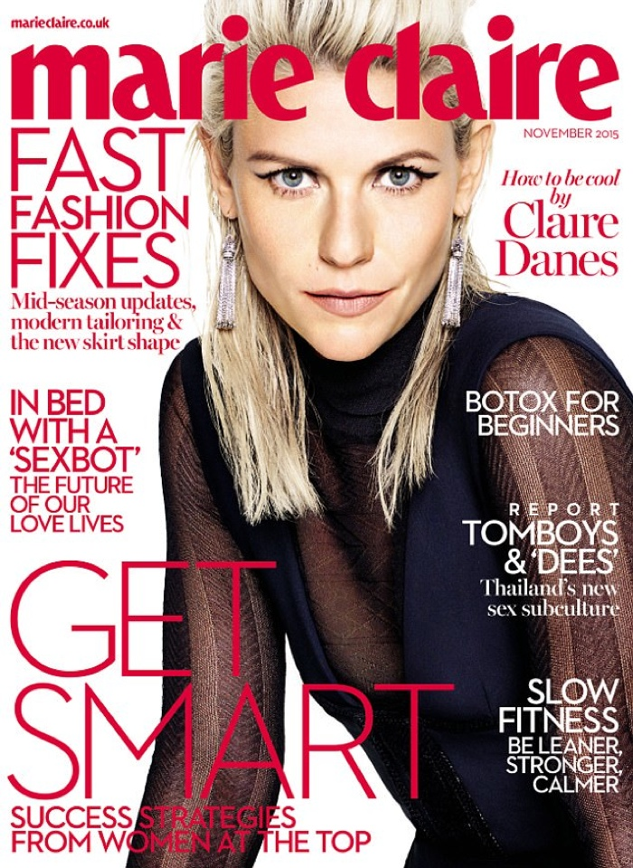 Claire Danes - Marie Claire UK November 2015 Cover Story