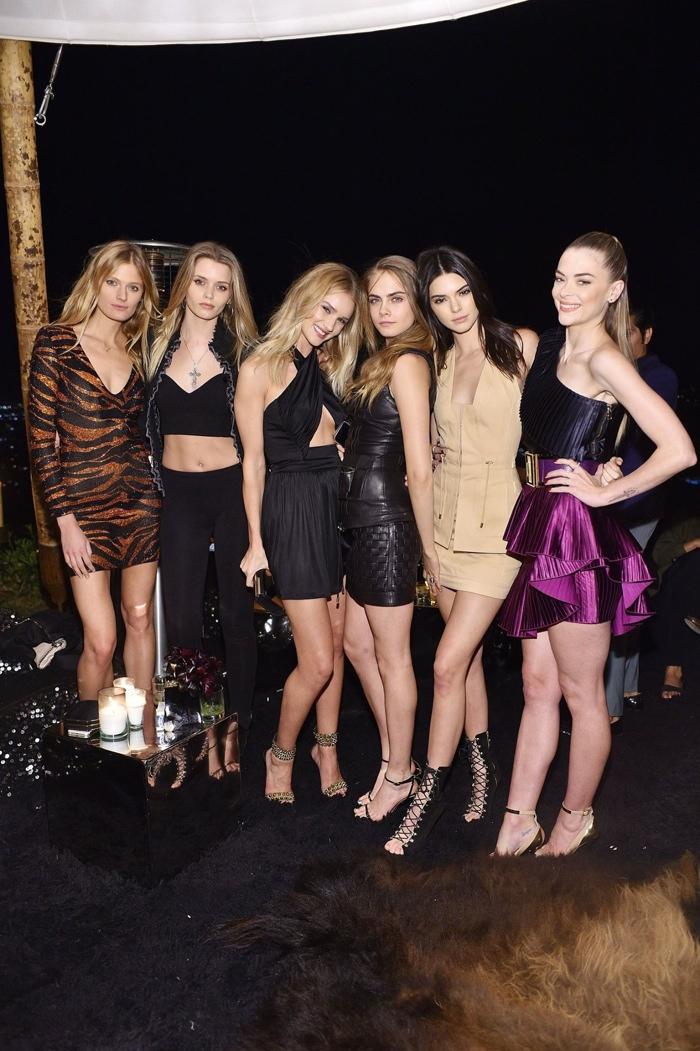 Constance Jablonski, Abbey Lee Kershaw, Rosie Huntington-Whiteley, Cara Delevingne, Kendall Jenner and Jaime King