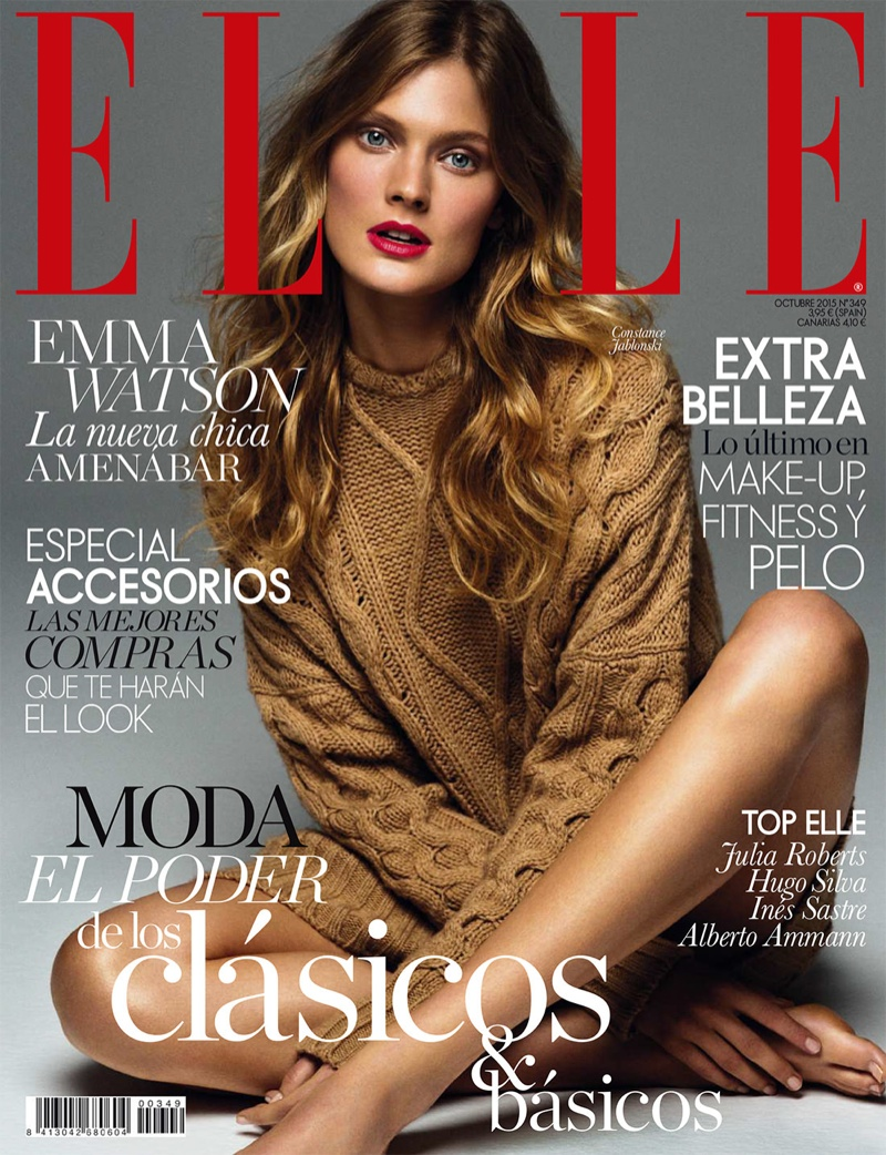 Constance Jablonski on ELLE Spain October 2015 cover