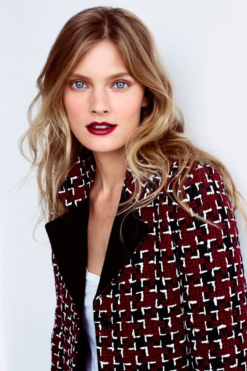 Constance wears fall lipstick shades from Estee Lauder