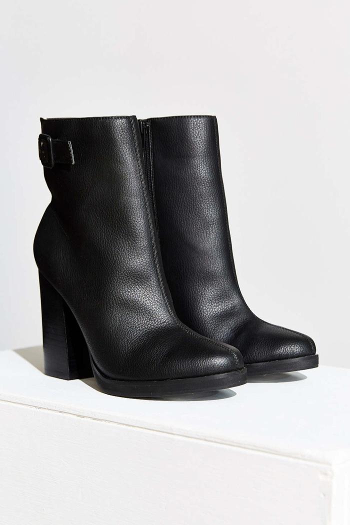 Cornel Leather Heeled Boot