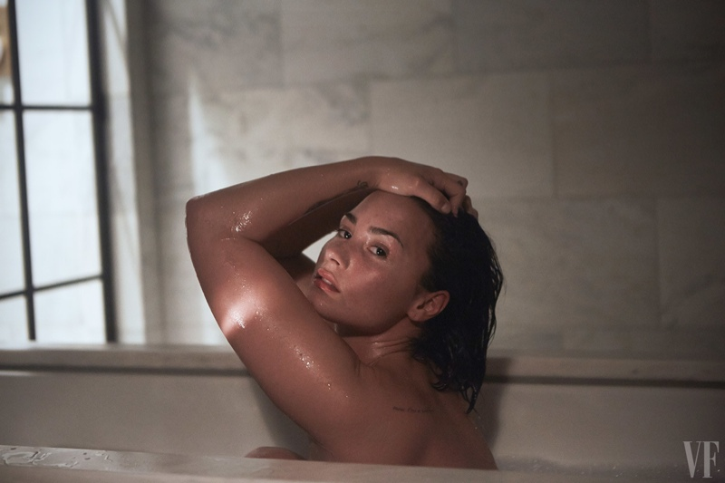 Singer Demi Lovato bares all in a nude photo shoot featured in Vanity Fair. The images were captured by Patrick Ecclesine where Demi posed with no makeup and no retouching.
