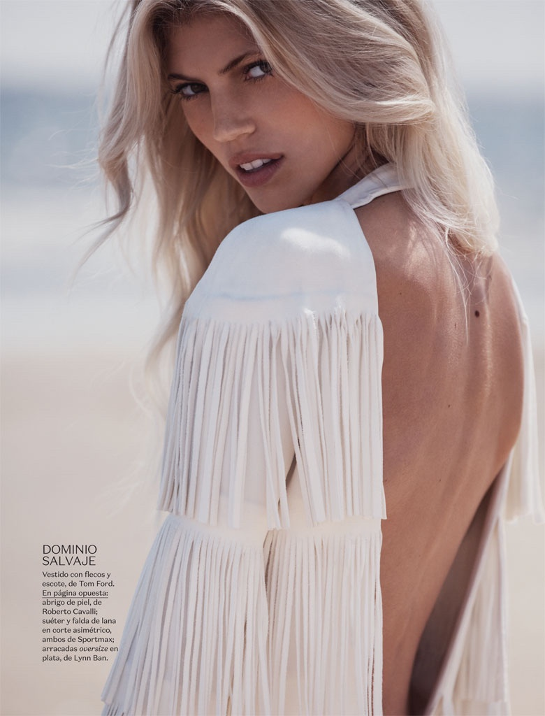 Devon Windsor is a Beach Beauty for Vogue Mexico by Dean Isidro