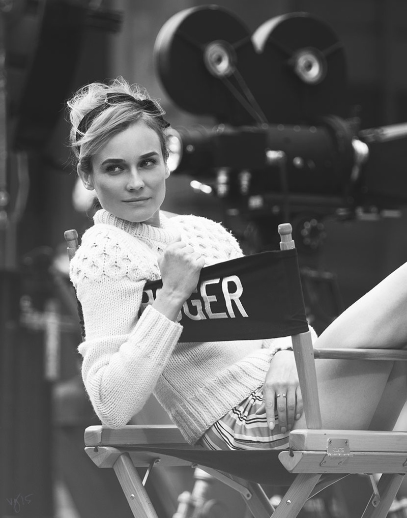 Diane Kruger is an 'Actress Off Duty' for Violet Grey