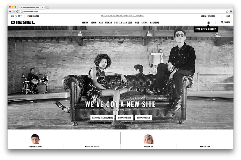 A look at Diesel's new website