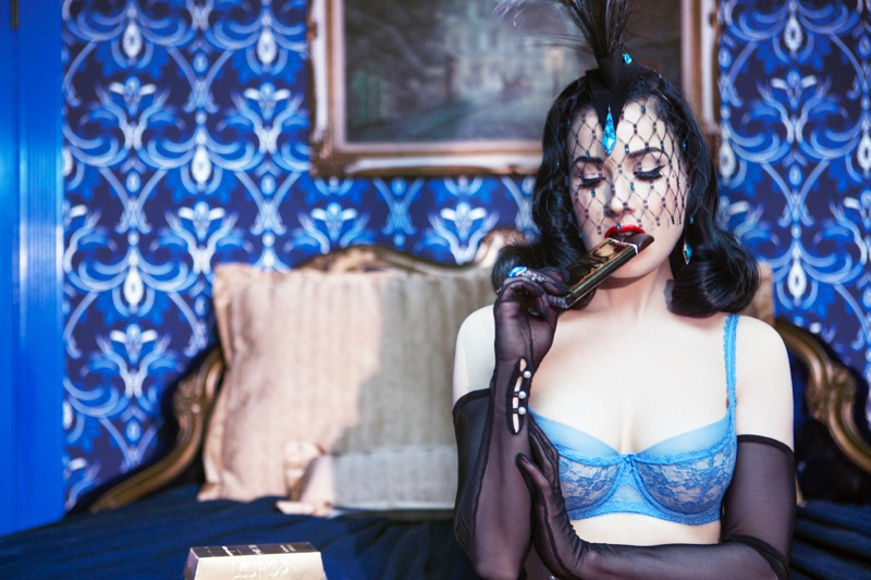 Dita Von Teese stars in WhoYouAre shoot