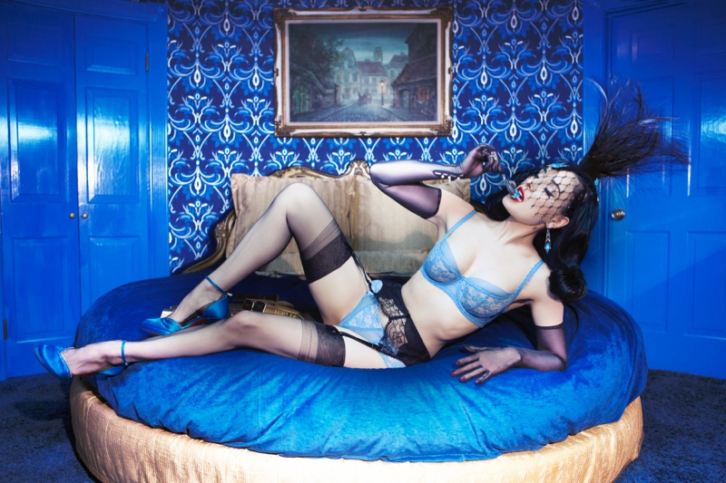 Dita turns up the heat in sexy lingerie looks