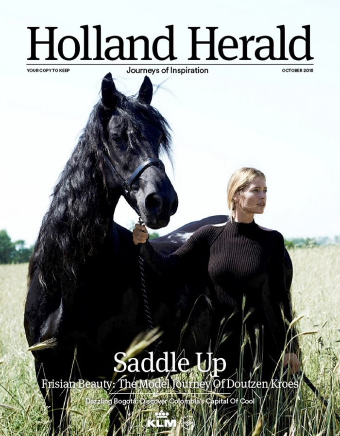 Doutzen Kroes on Holland Herald October 2015 cover