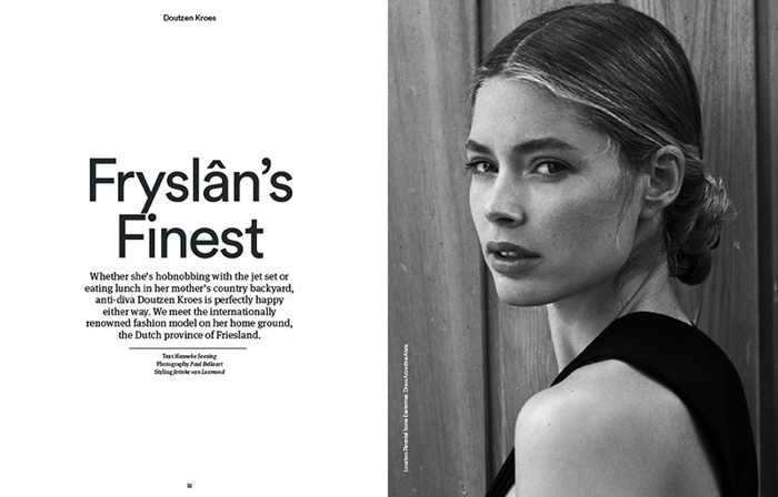 Doutzen Kroes poses in Holland Herlad's October issue