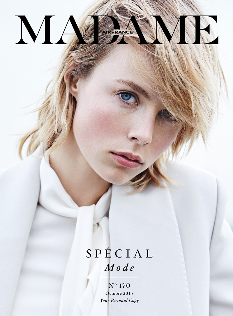 Edie Campbell on Air France Madame October 2015 cover
