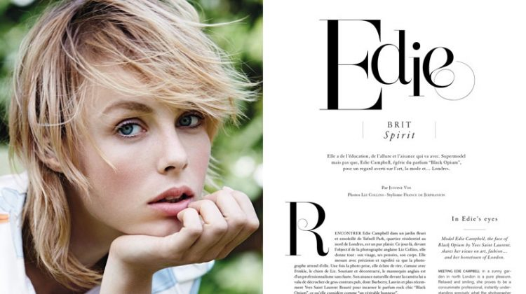 Edie Campbell is Retro Chic for Air Madame France