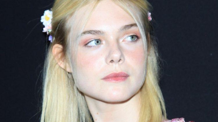 Elle Fanning Embraces Florals in Gucci at the 'TRUMBO' LA Premiere