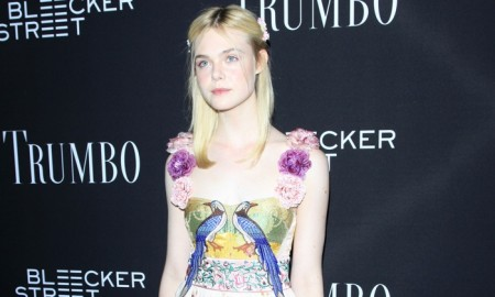Elle Fanning wears Gucci dress at 'TRUMBO' Los Angeles premiere. Photo: Shutterstock.com / Helga Esteb