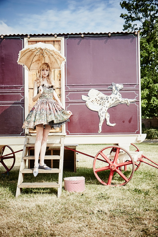 Welcome to the Circus: Frances Coombe by Ellen von Unwerth for BAZAAR