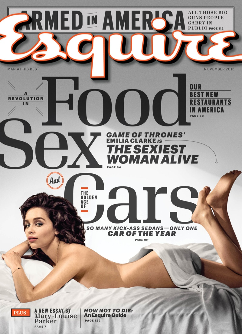 Emilia Clarke on Esquire November 2015 cover
