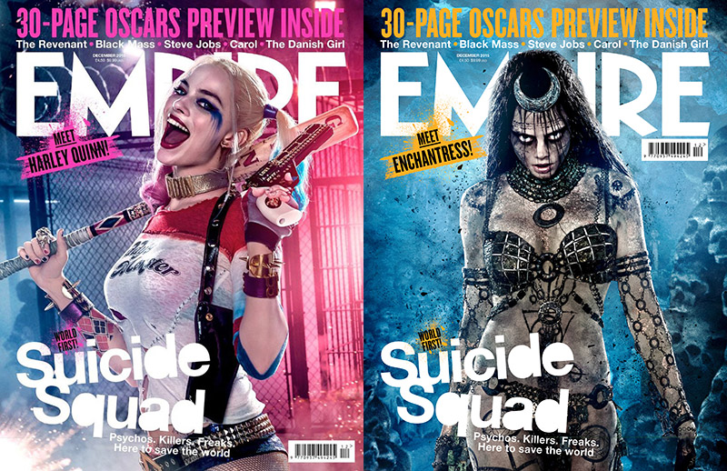 Empire gets a first look at 'Suicide Squad' with the film stars Margot Robbie and Cara Delevingne