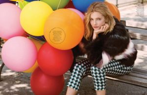 Eniko Mihalik is a Balloon Girl in ELLE Italia's November Issue